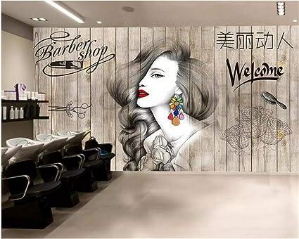 Weaeo Papel Pintado De La Foto Peluquería Nórdica Peluquería Salón De  Belleza Tienda De Peluquería Fondo 3b11035eb637