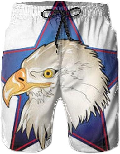 PIN Lightweight Quick Dry Vintage USA Flag Beach Shorts Swim Trunks Beach Pants