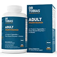 Dr Tobias Adult Multivitamin - Enhanced Bioavailability - with Whole Foods, Herbs...