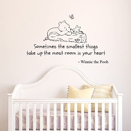 v c designs tm winnie the pooh sometimes the smallest things quote