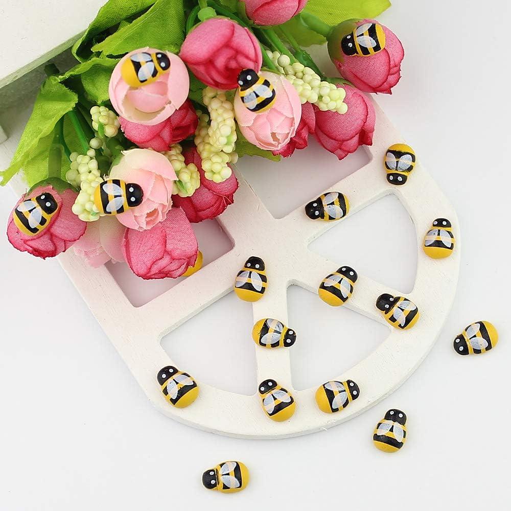 Cratone Bienen selbstklebend mit Klebepunkt Zum dekorieren aus Holz 10 mm als Gl/ücks-Biene Deko f/ür DIY Handwerk Dekoration Scrapbooking 100 St/ück