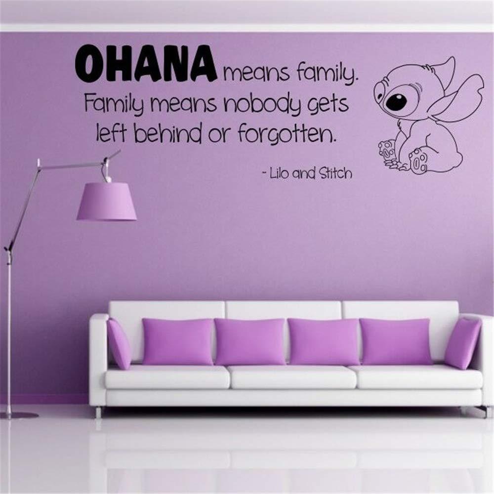 pegatina de pared frases Ohana Nursery Inspired Tatuajes de pared ...