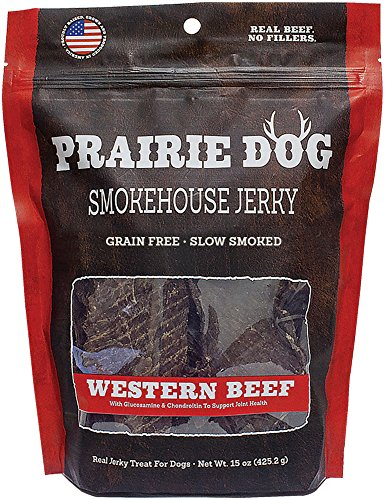 - Prairie Dog Pet Products Western Beef Smokehouse Jerky Treats, 15 Oz