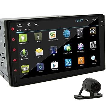 7 pulgadas de coches Radio Tablet Android 4.2.2 Jelly Bean Doble Din En Dash