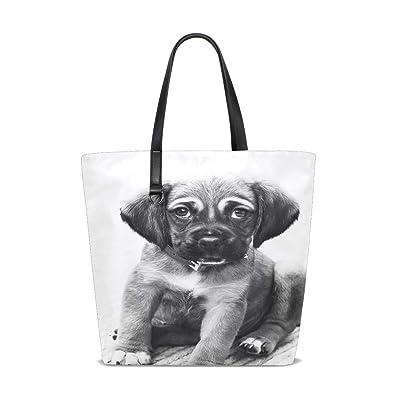 Amazon.com  Women Puppy Dog Animal Portrait Small Dog Small Animal ... 41cd7a228f