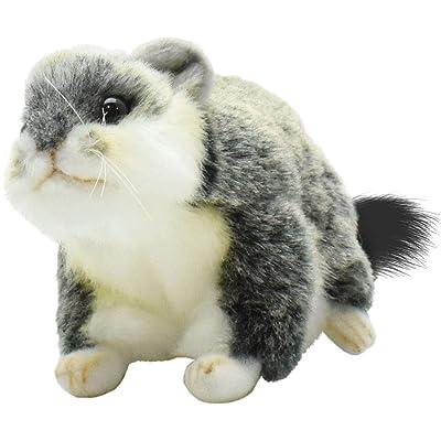 "HANSA Plush 5"" Grey Hamster: Toys & Games"