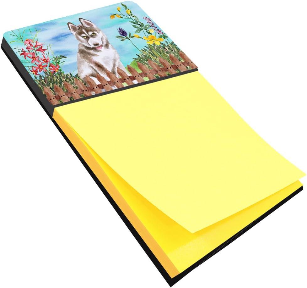 BB2788SN Multicolor Carolines Treasures Dog House Collection Standard Schnauzer Black Grey Sticky Note Holder