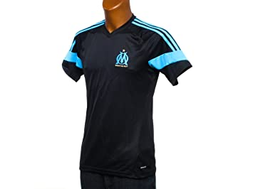 adidas - Camiseta de entrenamiento Champions League, diseño del Olympique de Marsella (2014/1), color - negro, tamaño small: Amazon.es: Deportes y aire ...