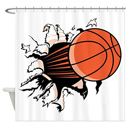 Image Unavailable Not Available For Color CafePress Basketball Shower Curtain