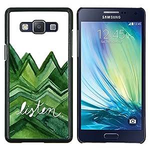 Stuss Case / Funda Carcasa protectora - Escuchar árboles verdes de la acuarela Lagarto Blanco - Samsung Galaxy A5 ( A5000 ) 2014 Version