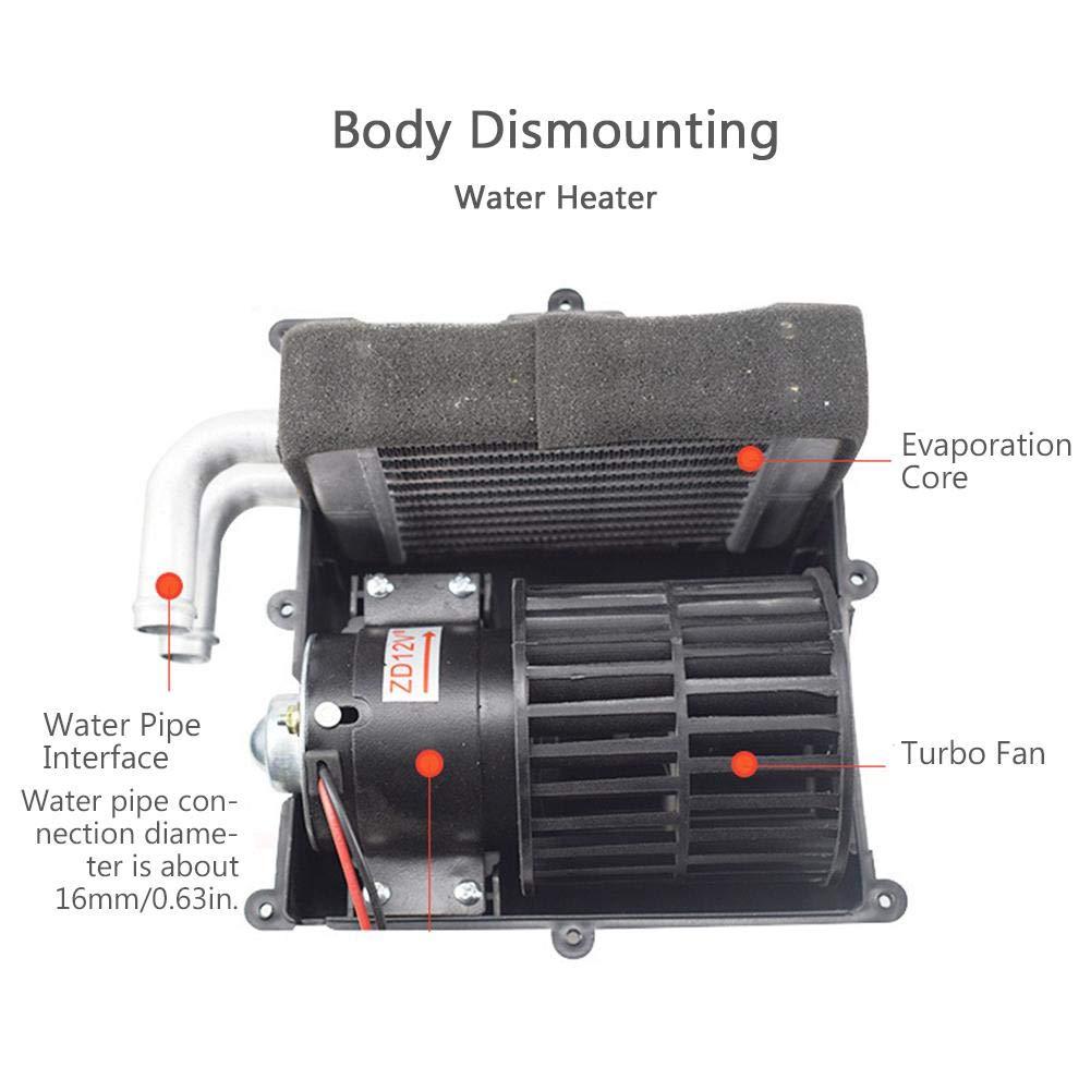 Clevoers - Kit de Calentador de Agua para Coche, 12/24 V, Calentador rápido, Calentador de Aire para Furgonetas, Camiones, caravanas, remolques de ...