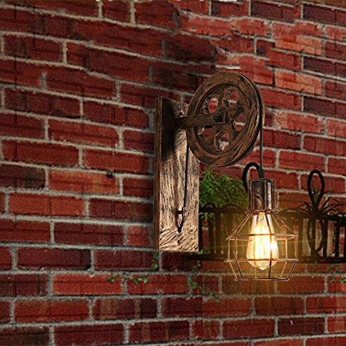 OOFAY Wall Light@ Vintage Industrial Wandleuchte Persönlichkeit Pulley Bar Lampe Retro Eisenwand Llight Antikes Hotel Restaurant Bekleidungsgeschäft Bar Wandlampe