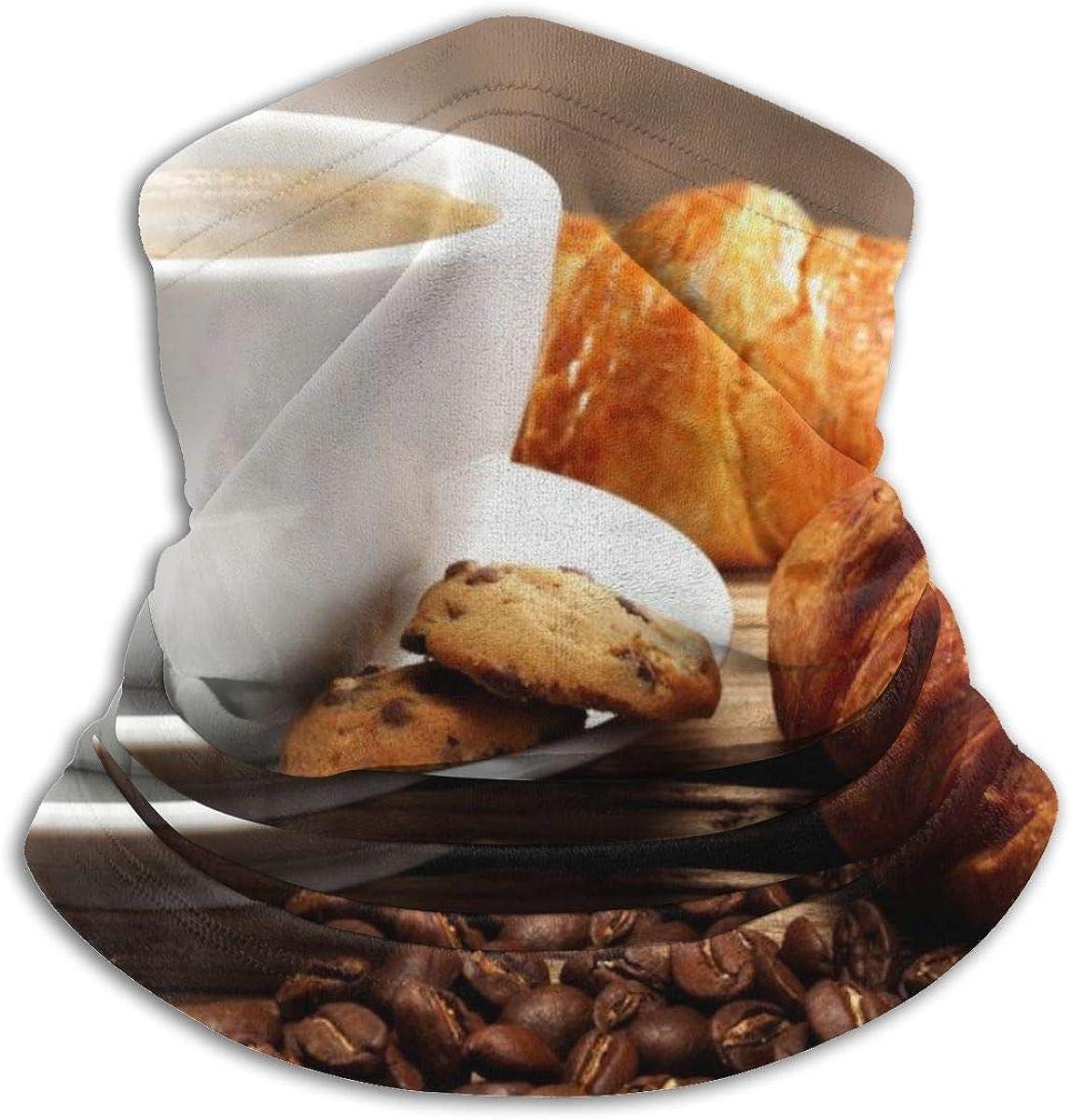 July Galletas de grano de café Croissant Polaina para el cuello UV Cubierta para el sol Polvo Viento Cubierta para la cara Media bufanda para montar