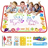 TECBOSS Toys for 3 Year Old Boys, AquaDoodle Water Drawing Mat for Kids Large Mess-Free Painting Writing Doodle Board, Educational Toys Gifts for Boys Girls Toddlers Age 1 2 3 4 5 6