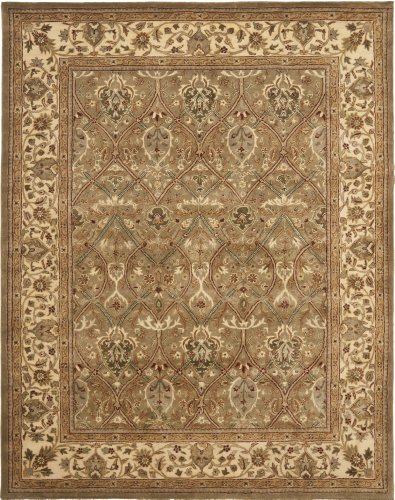 Safavieh Persian Legend Collection PL819A Handmade Traditional Light Green and Beige Wool Area Rug (9'6