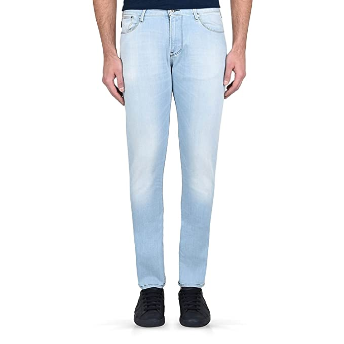 Amazon.com: Armani Jeans 3y6j45 Slim Fit – J45 Light Wash ...