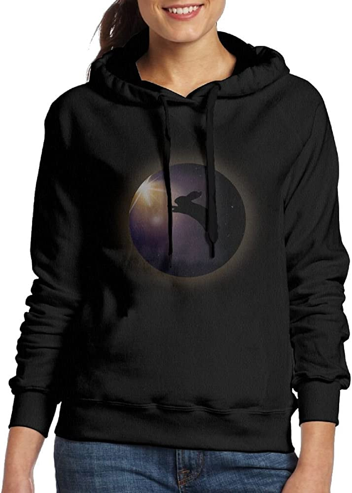 SmallTing WXF Womens Funny Eclipse Tee Total Solar Eclipse Classic Jogging Black Hoody