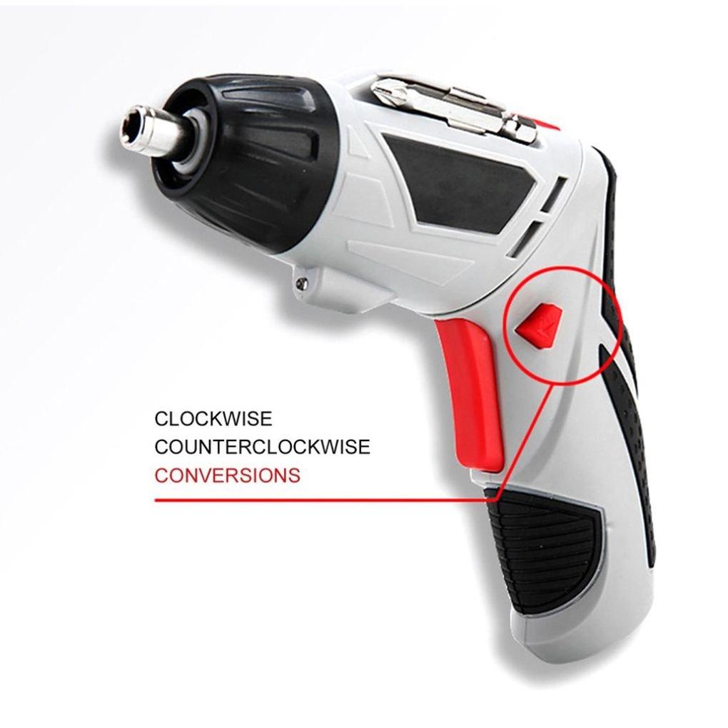 Destornillador el/éctrico 4.8V Multi-funci/ón taladro de mano recargable Destornillador el/éctrico conjunto herramienta el/éctrica