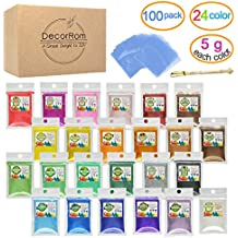 Mica Powder - 24 Color Soap Dye with 100 Shrink Wrap Bags, 1 Spoon - Skin Safe Soap Colorant Pigments for Soap Making Supplies - Cosmetic Grade Colorant for Slime,Bath Bombs,Candle Making,Epoxy Resin