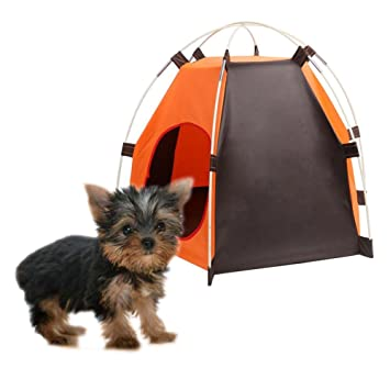 Portable Dog Tent Pet Teepee Folding Dog House Dog Bed Waterproof moistureproof Indoor Outdoor C&ing for  sc 1 st  Amazon.com & Amazon.com : Portable Dog Tent Pet Teepee Folding Dog House Dog ...