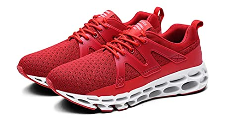 7d17cb36f2836 Amazon.com : LUCKY-U Men Running Shoes, Red Comfortable Shoes ...
