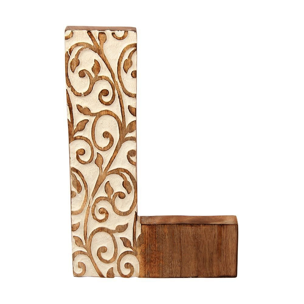 Wooden Alphabet Letter for Party Wedding Decoration Home Wall Sign Decor - Letter L - Aheli