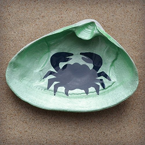 Crab-Clam-Shell-Dish-Spoon-Rest-Soap-Dish-Jewelry-Holder-Catch-all-Cranberry-Collective