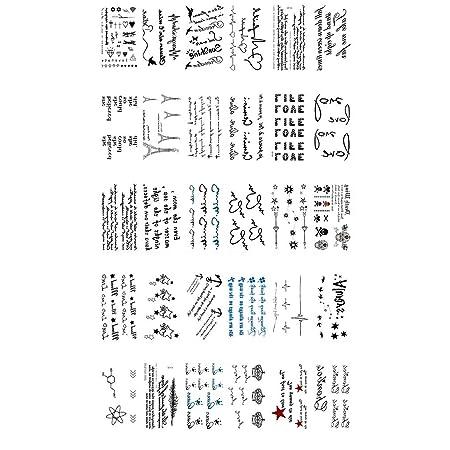 Tatuajes temporales para Hombres y Mujeres, Letras inglesas ...