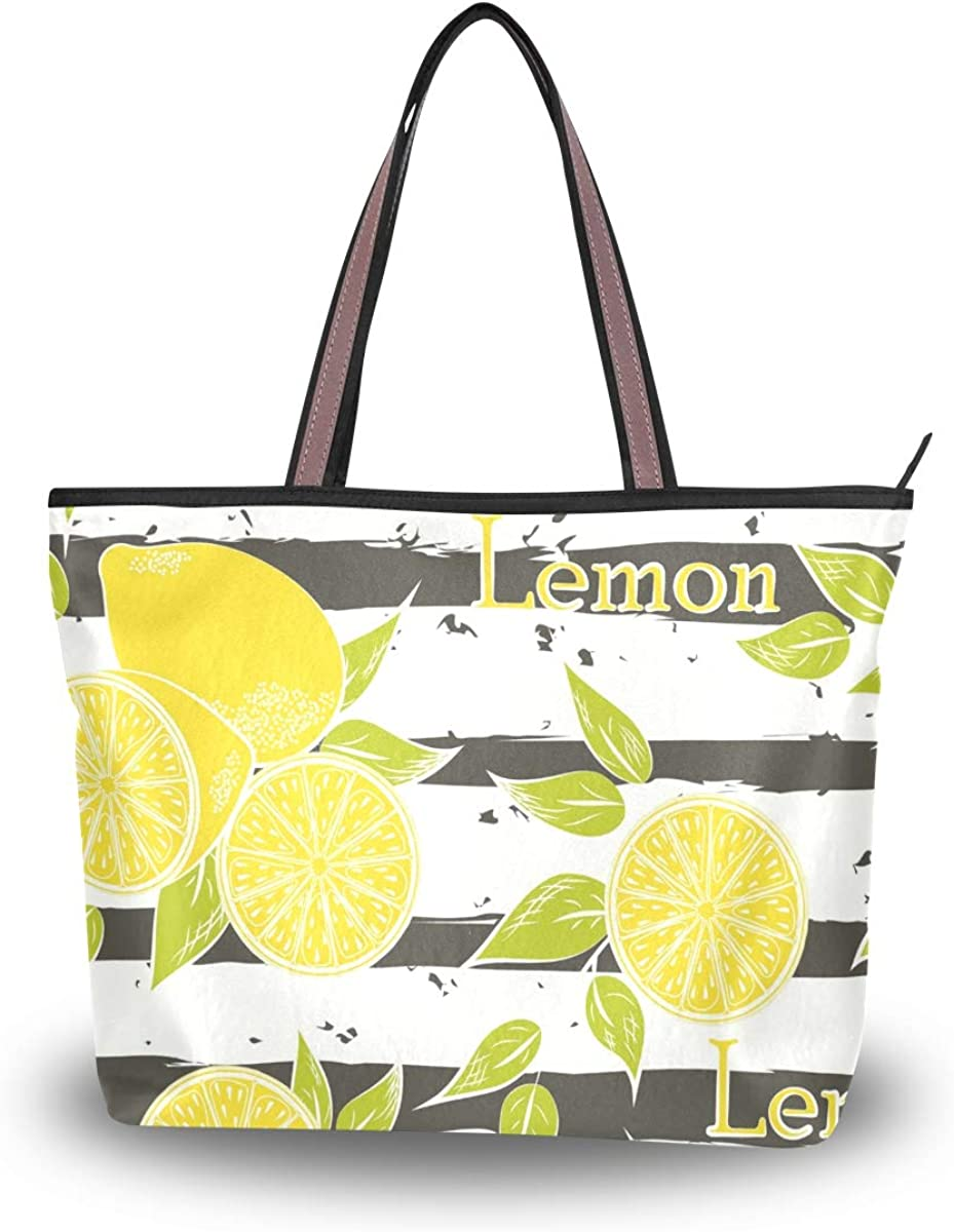Lime and citrus striped carry-all tote