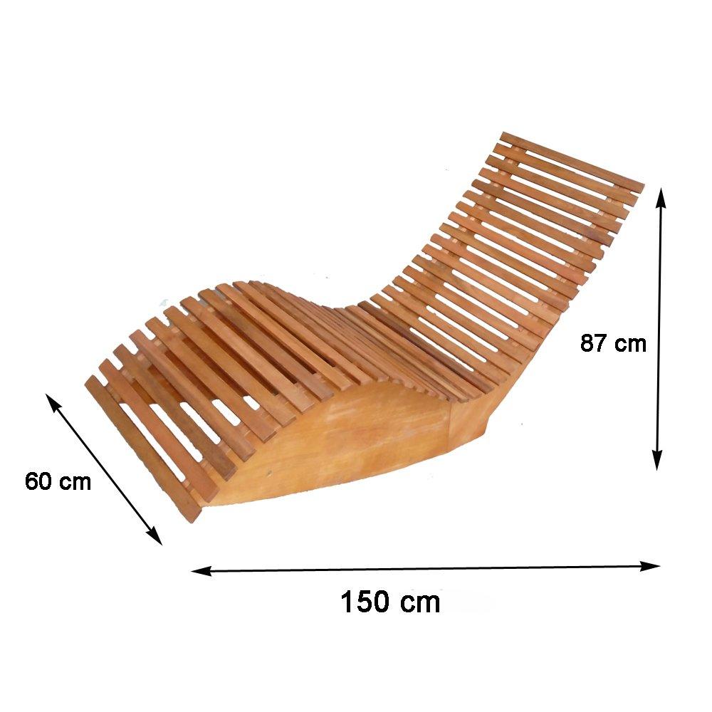 Amazon.de: Sonnenliege Schwungliege aus Holz \