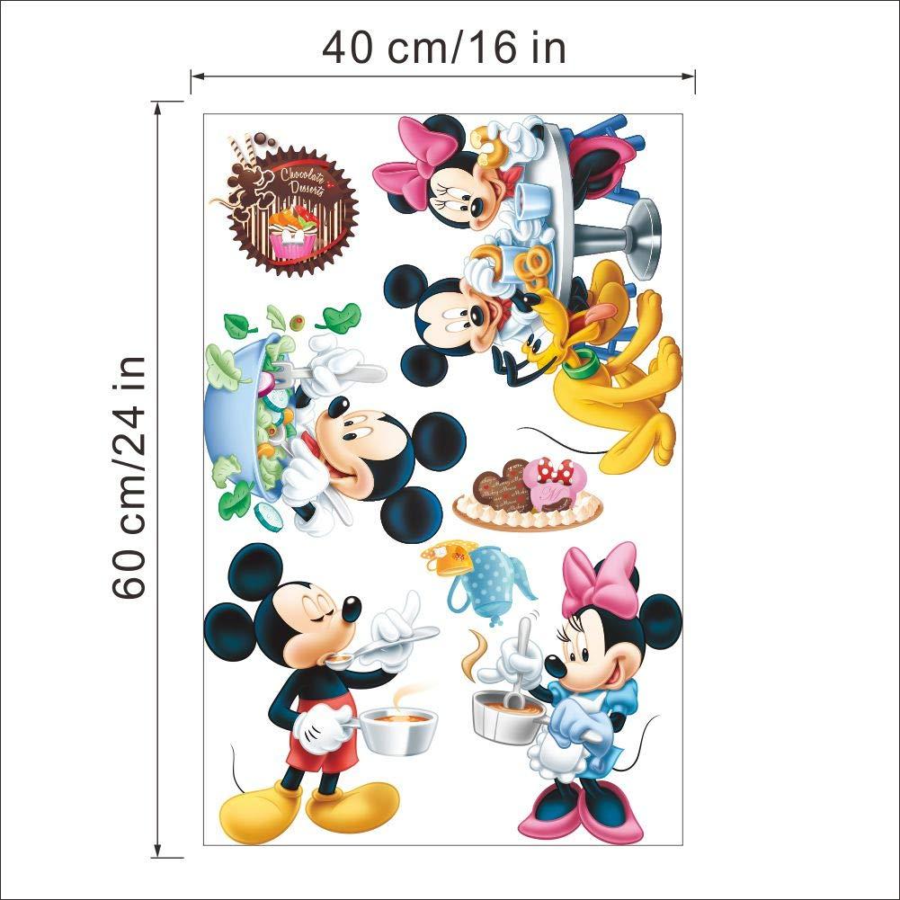 Kibi Pegatinas Infantiles Pared Minnie Pegatinas Decorativas Pared mickey Mouse Stickers Pared Mickey Dormitorio Calcomanias para Ni/ños Pared Calcomanias Mickey