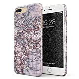Glitbit Compatible with iPhone 7 Plus / 8 Plus Case Map of The World Explore Globe Travel Wanderlust Road Trip Lets Go Thin Design Durable Hard Shell Plastic Protective Case Cover