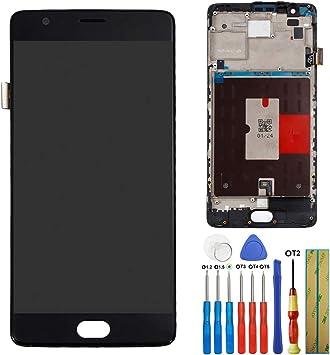 melph yreal para OnePlus 3 3T A3000 a3010 AMOLED Pantalla Táctil Cristal Repuesto Pantalla LCD digitalizador con de (Negro) + Herramientas: Amazon.es: Electrónica