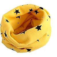 Wamvp Otoño Invierno Estrellas Patrón Algodón Pañuelos Niños Niñas O Cuello Bufanda Bebé