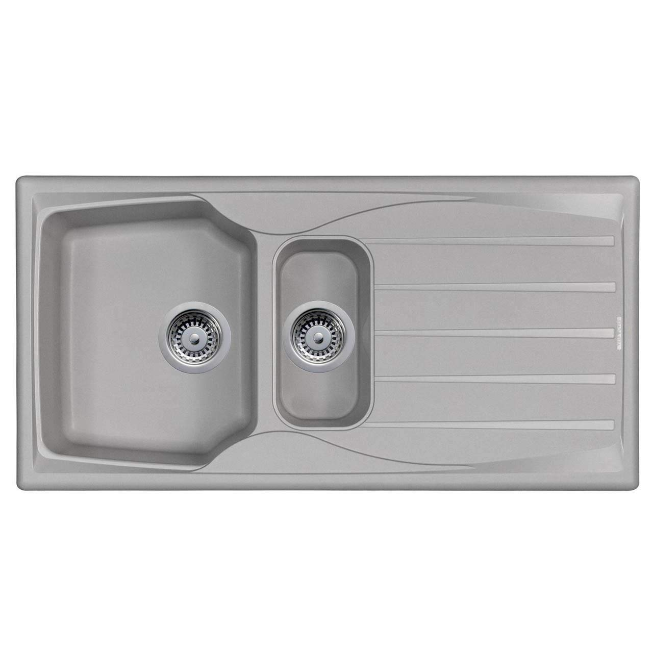 Astracast Sierra 1 5 Bowl Reversible Light Grey Kitchen Sink And Waste Kit Buy Online In Bahamas At Desertcart Productid 144017097