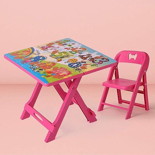 Juego de Mesa y Silla de plástico para niños, Escritorio de ...