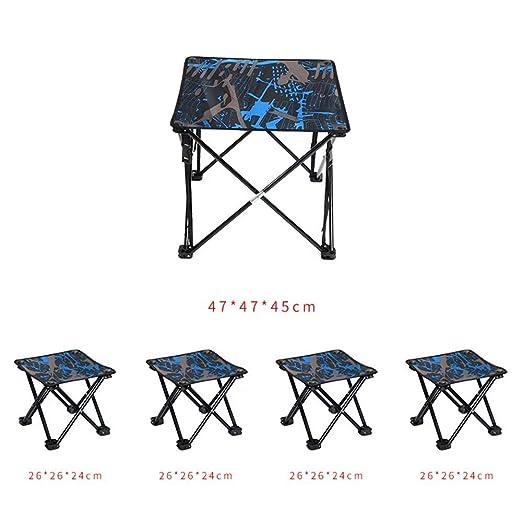 WEIFAN Mesa y sillas Plegables para Exteriores, mesas y sillas de ...