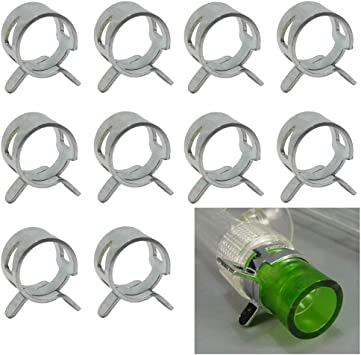 Amazon Com Gkanmore Hose Clips Clamps For 10mm 3 8 Od Soft Tubing Pipe Hose Clamp For Pc Water Cooling System Pack Of 10 Computers Accessories