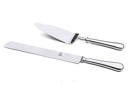OTW PAVILION Stainless Steel Silverware Wedding Cake Knife And Server Set10 Inch