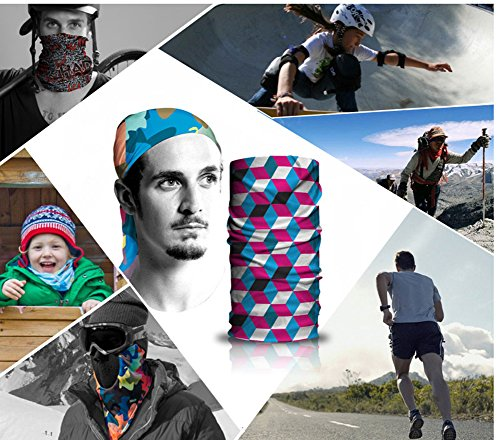 KALILY 6PCS Headband Bandana - Versatile 12-in-1 Sports   Casual Headwear – 2f006f118b77