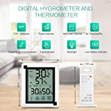 ORIA Indoor Outdoor Thermometer Humidity, Digital