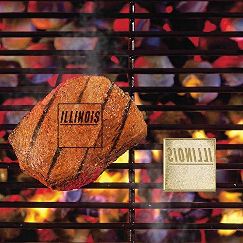 Illini Fan - Fan Mats 10106 University of Illinois Fighting Illini Fan Brand Barbecue Logo Branding Iron