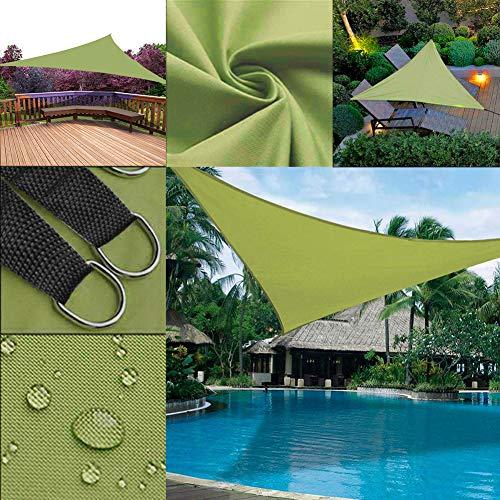 Finyosee Triangle Sun Shade Sail - UV Block Sunshade Waterproof for Canopy Awning &Patio Yard Deck Pergola &Outdoor Swimming Pools Garden (9'10'' x 9'10'' x 9'10'',Green)