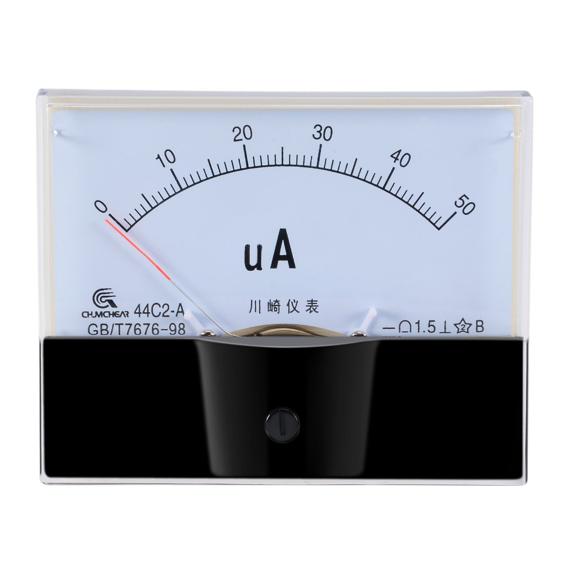 uxcell 44C2-A Analog Current Panel Meter DC 50uA Ammeter for Circuit Testing Ampere Tester Gauge 1 PCS