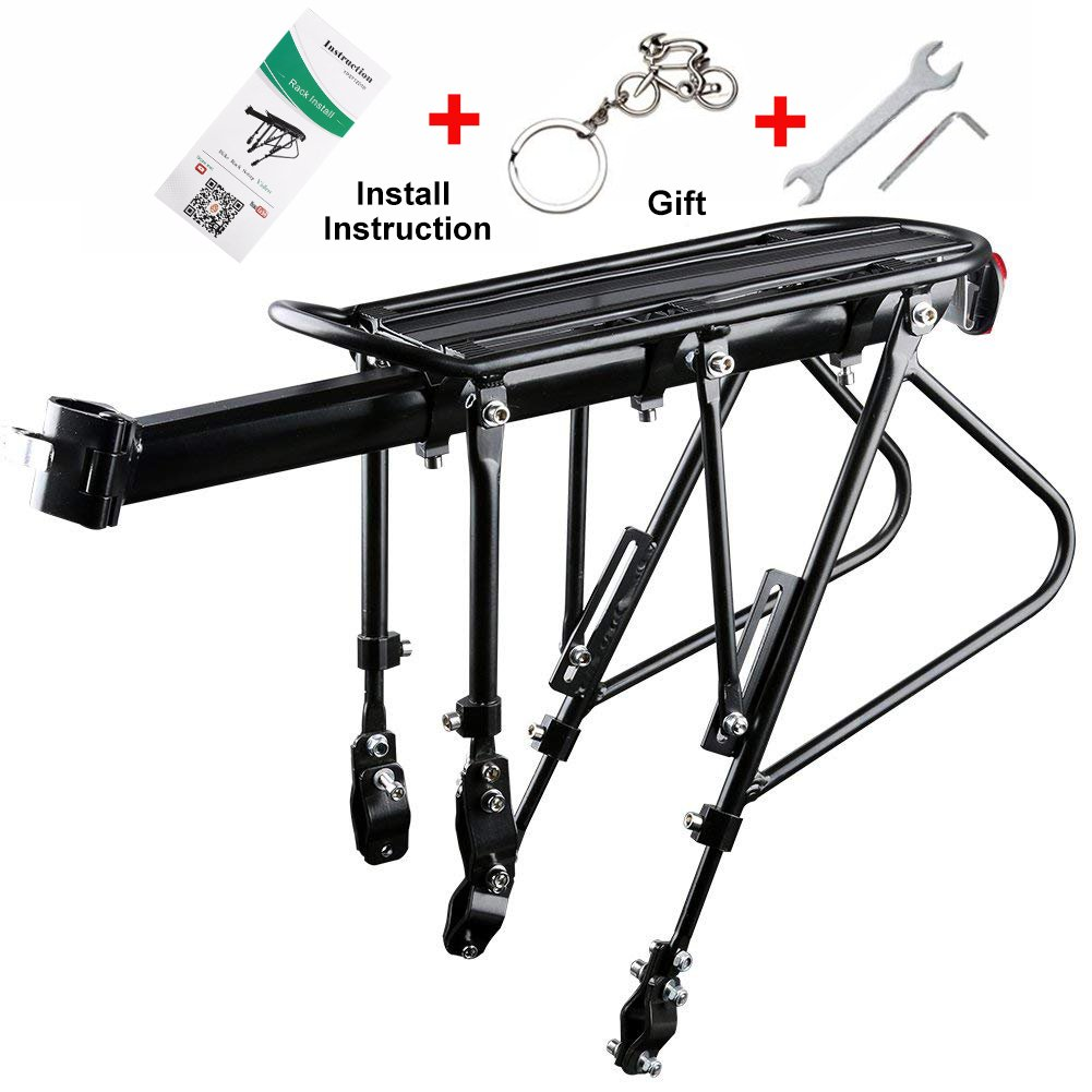 West Biking Bike Carrier Rack, 310 LB Capacity Solid Bearings Universal Adjustable Bicycle Luggage Cargo Rack,Cycling Equipment Stand Footstock
