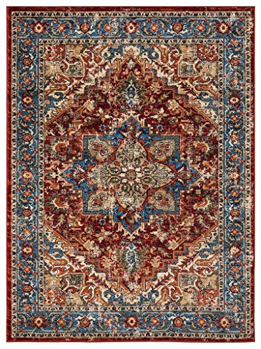 Luxe Weavers Howell Collection Red Oriental 8x10 Area Rug 2522 (Rug Medallion Persian)