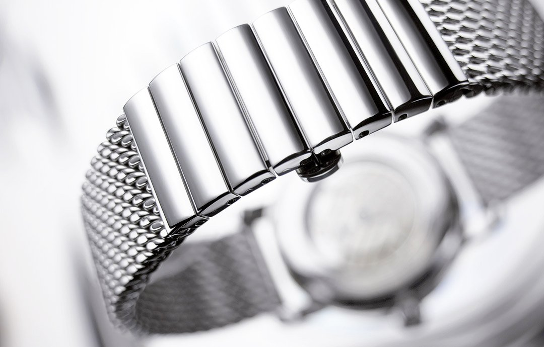 Staib 20mm Polished Mesh 150mm Stainless Steel Mens Watch Band Model 2792 by Staib (Image #5)