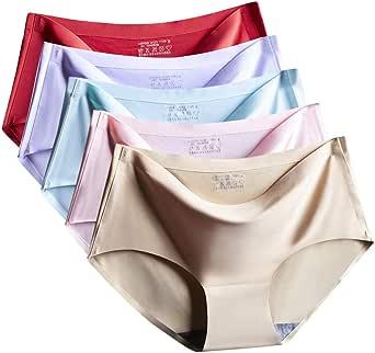 Women's Panties Seamless Ladies Lingerie Women's Underwear Lingerie Panties(5-Pack)