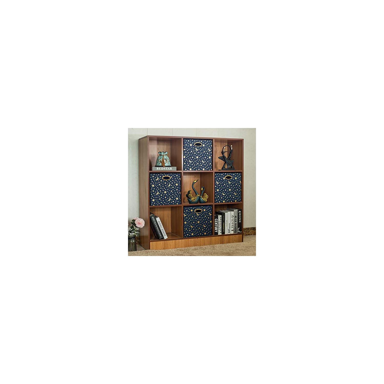 Posprica Storage Cubes,13×13 Storage Bins,Collapsible Fabric Storage Baskets for Kids,4pcs, Stars
