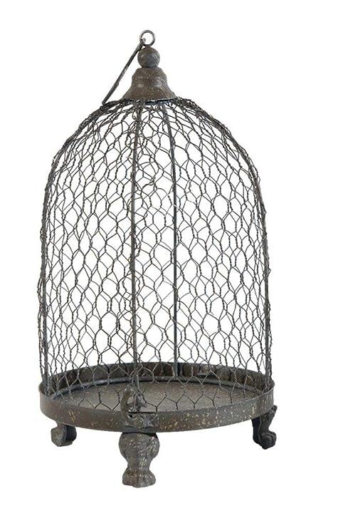 Burleson Home Furnishings - Portavelas, diseño de Jaula de pájaros ...